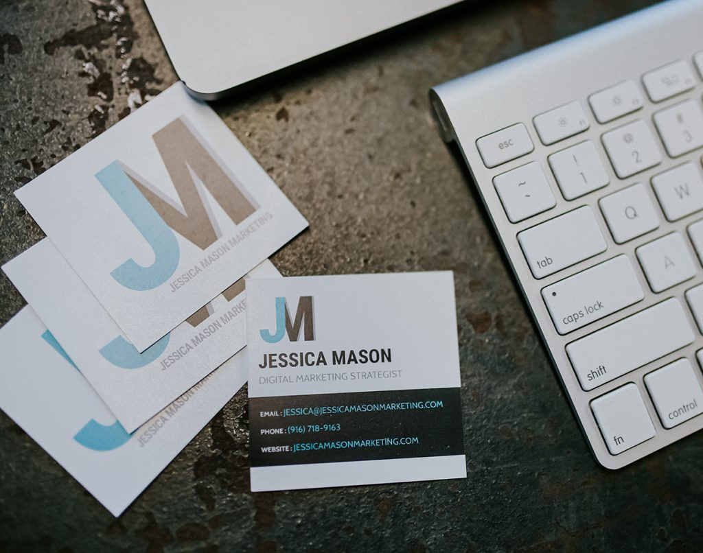 Jessica Mason Marketing Print Marketing Business Cards